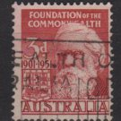 Australia 1951  - Scott  241  used - 3c, Sir Henry Parkes   (T-707)