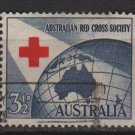 Australia 1954  - Scott  271  used - 3c, Red Cross Society (T-708)