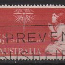 Australia 1957  - Scott  306  used - 3.1/2p, Paying child, Christmas  (T-712)