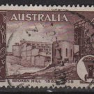 Australia 1958  - Scott  311  used - 4p, Broken Hill mining field (T-714)