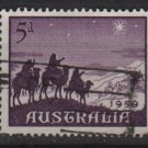 Australia 1959  - Scott  334  used - 5p, Christmas (T-716)