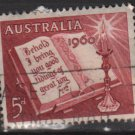 Australia 1960  - Scott  339  used - 5p, Open Bible, Christmas (T-717)