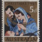 Australia 1965  - Scott  393  used - 5p, Nativity, Christmas (T-721)