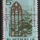 Australia 1968  - Scott  445 used - 5p, View of Bethlehem, Christmas (T-722)