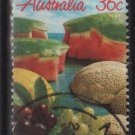 Australia 1987  - Scott  1015 used - 36c, Fruits, Melons & grapes (T-724)
