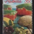 Australia 1987  - Scott  1015 used - 36c, Fruits, Melons & grapes (T-724)