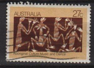 Australia 1982  - Scott  853  used - 27c, Aboriginal bark painting (T-725)