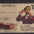 Australia 1976  - Scott 629 used - 18c, Cent. 1st telephone call by Alexander Graham Bell (6-629)