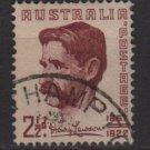 Australia 1949  - Scott 222 used - 2.1/2p, Henry Hertzberg Lawson (6-637)