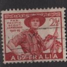 Australia 1948 - Scott  216 used -  2.1/2p, Scout in uniform (6-639)