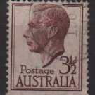 Australia 1950/52 - Scott  236 used -  3.1/2p, George VI (6-642)