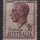 Australia 1950/52 - Scott  236 used -  3.1/2p, George VI (6-642)