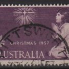 Australia 1957 - Scott 307 used -  4p, Christmas (6-649)