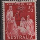 Australia 1958 - Scott 312 used -  3.1/2p, Christmas (6-650)