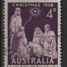 Australia 1958 - Scott 313 used -  4p, Christmas (6-652)