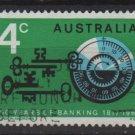 Australia 1967  - Scott  425 used -  4c, Banking (6-660)