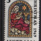 Australia 1969  - Scott  466 used -  5c, Christmas (6-663)