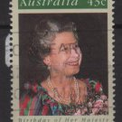Australia 1991  - Scott 1210 used - 43c, Queen Elizabeth 65th Birtdhay (6-671)