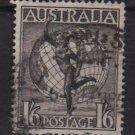 Australia, Airmail,  1949  - Scott  C6 used -  1sh6p, Mercury & Globe (6-680)