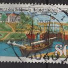 Germany 1984 -  Scott 1427  used - 80pf, Schleswig-Holstein canal  (7-14)