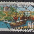 Germany 1984 -  Scott 1427  used - 80pf, Schleswig-Holstein canal  (7-14)