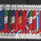 Germany 1989 -  Scott 1572  used - 100pf, Flags, European Parliament elections (7-30)