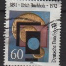 GERMANY 1991 - Scott 1623 used - 60pf, Erich Buchholz, Painter & Architect  (Ru435*)