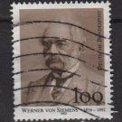 Germany 1992 - Scott 1768 used - 100pf, Werner von Siemens (7-37)
