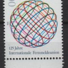 Germany 1990 - Scott 1604  MNH -  100pf, Intl. Telecommunication Union  (7-70)
