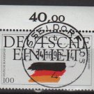 Germany 1990 - Scott 1613  CTO -  100pf, German Reunification (7-76)