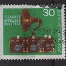 Germany 1975 - Scott 1127 used - 30pf,  Radio Broadcasting (7-87)