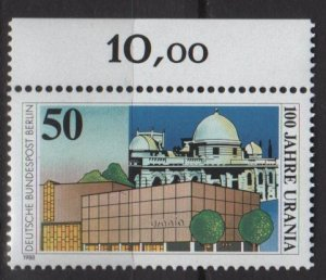 Berlin 1988 - Scott 9N569 MNH - 50pf, Urania Science Museum(7-103)