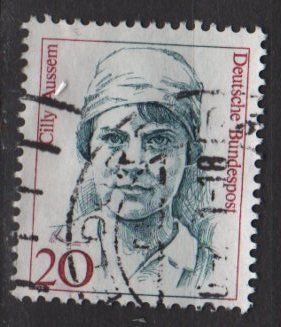Germany 1986/91 - Scott 1477 used - 20pf, Famous Women, Cilly Aussem  (7-129)