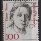 Germany 1986 - Scott 1484 used - 100pf, Famous Women, Therese Giehse   (7-131)