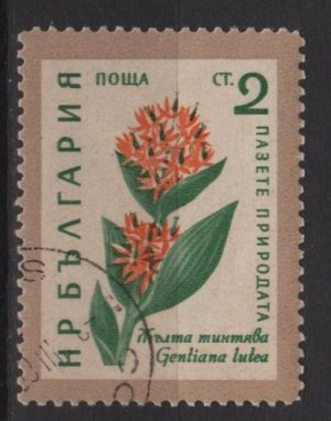 Bulgaria 1960 - scott 1107 CTO-  2s, Flowers (7-207)
