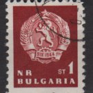 Bulgaria  1963  - Scott  1253 CTO  -  1s, Lion emblem (7-247)
