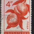 Bulgaria  1965  - Scott  1441  used  - 4s, fruits, peaches (7-291)