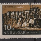 Bulgaria Airmail 1962   - Scott  C89 used -  10s, plane over Trnovo (7-353)