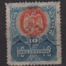 Mexico 1903 - Scott 308 used - 10c, Coat of Arms   (8-251)
