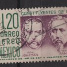 Mexico AIRMAIL 1956 - Scott C237 used - 1.20p, Cent. of the Constitution   (ru-602))