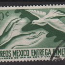 Mexico SPECIAL DELIVERY 1962 - Scott E18 MH - 50c, Hands & Pigeon  (8-273