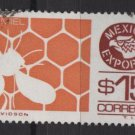 Mexico  1975/87 - Scott 1126 used - 15p, Export emblem & Honey bee  (8-268)