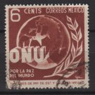 Mexico 1946 - Scott 814 used - 6c, United nations   (8-287)