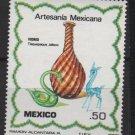 Mexico 1980  - Scott  1220 MNH  - 50c, Artisan Glass vase & animals (8-342*)