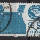 Mexico 1975/87 - Scott 1124 used  - 9p,  Export emblem & overalls (8-314)