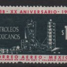 Mexico Airmail  1958 - Scott C244 used - 1p, Nationalization Oil industry 20th Anniv (6-491)