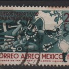 Mexico Airmail  1955 - Scott C227 used -25c, 2nd Pan American Games(6-357)