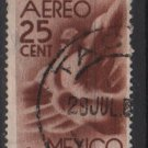 Mexico  Airmail  1944 - Scott C141 used - 25c, Symbol fo flight (7-316)