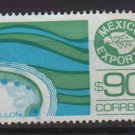 Mexico  1986/87  - Scott  1470 used  - 90p,  export emblem & Abalone (7-446)