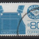 Mexico  1986/87  - Scott  1469 used  - 80p,  export emblem & denims overalls (3-22*)